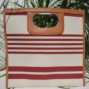 NWOT J Crew striped purse